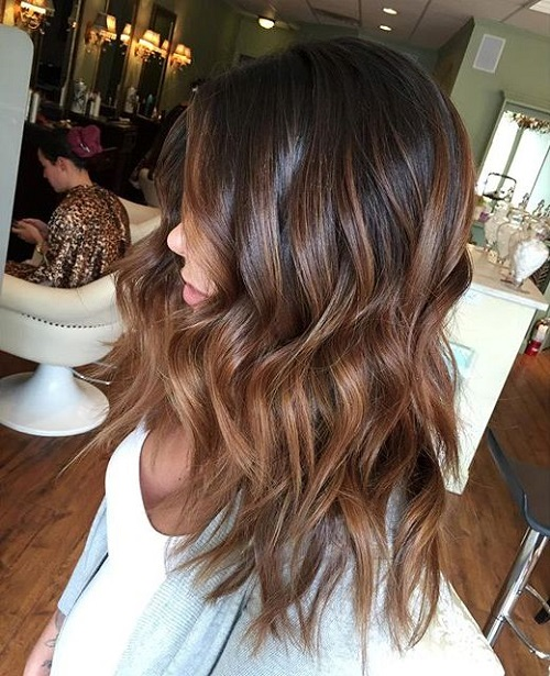 40 vivid ideas for black ombre hair brown ombre highlights for black hair pmusecretfo Choice Image
