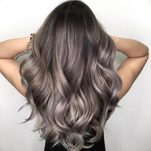 Gray And Silver Highlights For Chocolate Hair