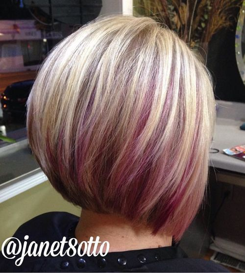 40 ideas of peek a boo highlights for any hair color blonde bob with purple peek a boo highlights solutioingenieria Image collections