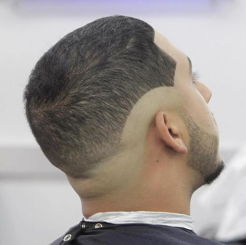 buzz haircut with undershaves