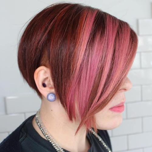 Red Pixie Bob With Undercut
