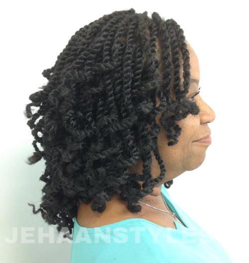 Curly Bob For Kinky Twists