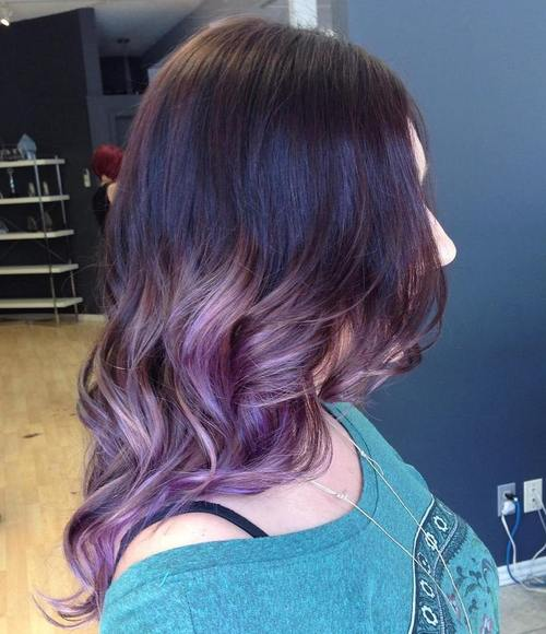 lavender ombre for black hair