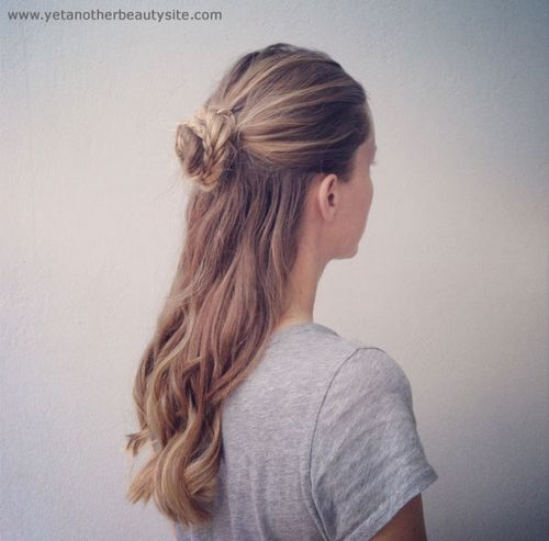 braided bun half updo