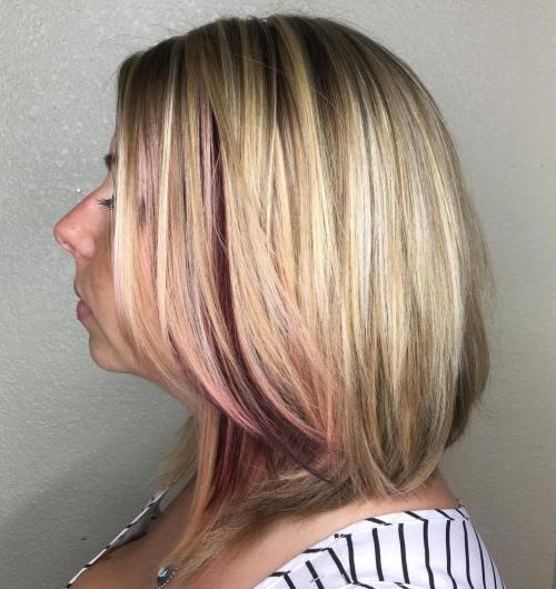 Medium Layered Blonde Balayage Hair