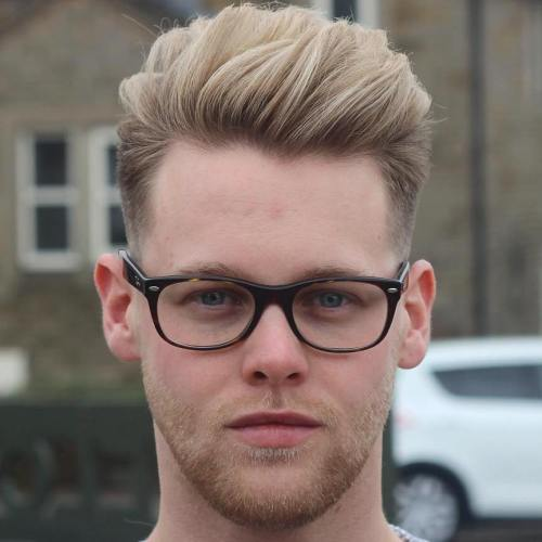 edgy quiff haircut
