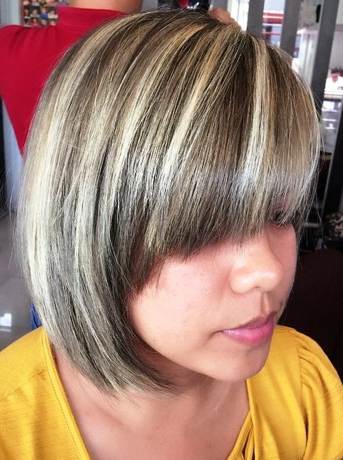 20 edgy ways to jazz up your short hair with highlights brown bob with blonde highlights pmusecretfo Images