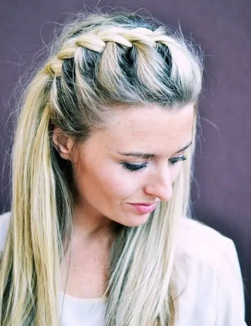 french braided half updo
