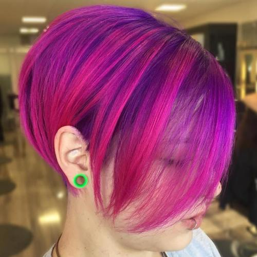Purple and Magenta Bob
