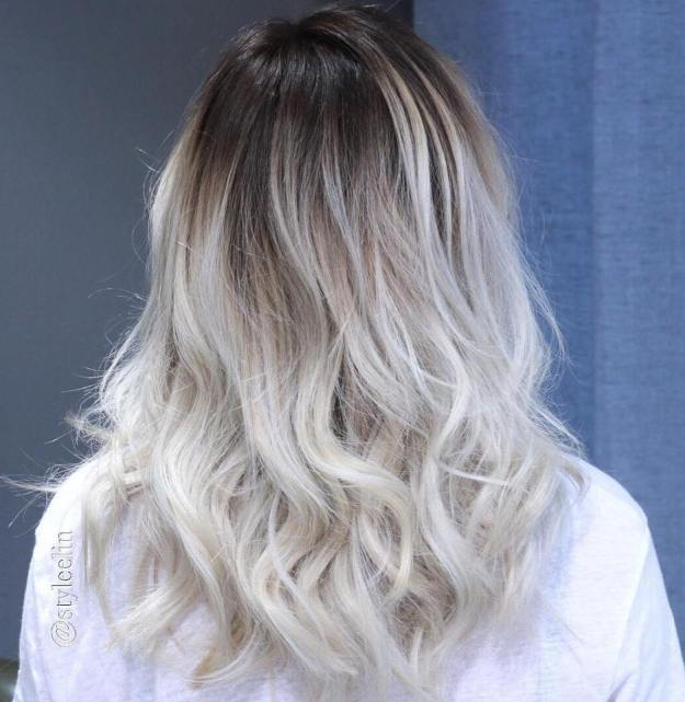 Ash Blonde Hair With Black Roots