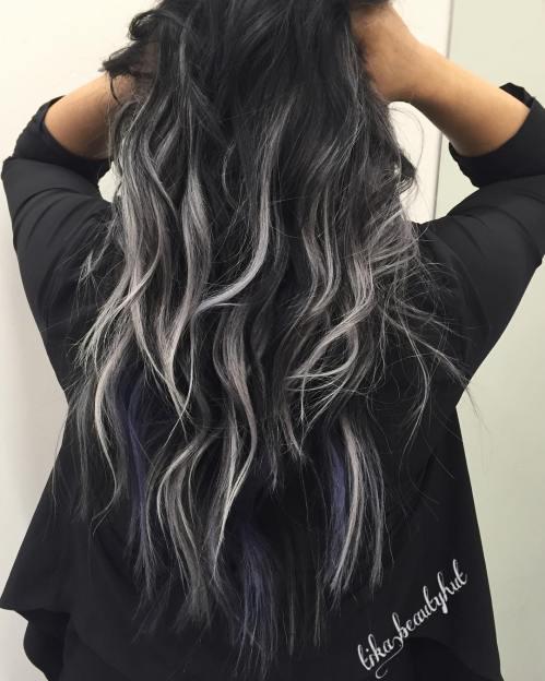 Black Hair With Subtle Gray Highlights