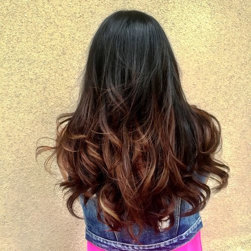 ombre styles for brown hair 40 ideas for black ombre hair 7108