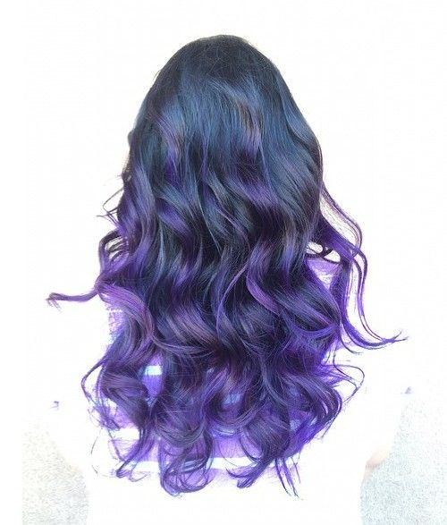 dark blue into purple ombre