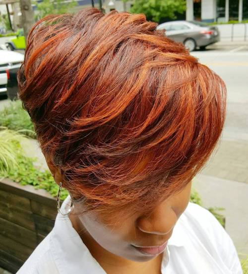 Red Layered Pixie Bob