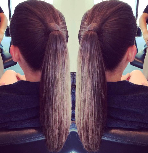 sleek pony hairstyle