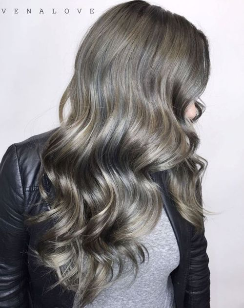 45 ideas of gray and silver highlights on brown hair subtle gray highlights for ash brown hair solutioingenieria