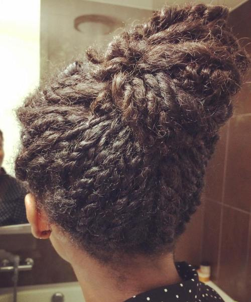 Bun out of Kinky Twists