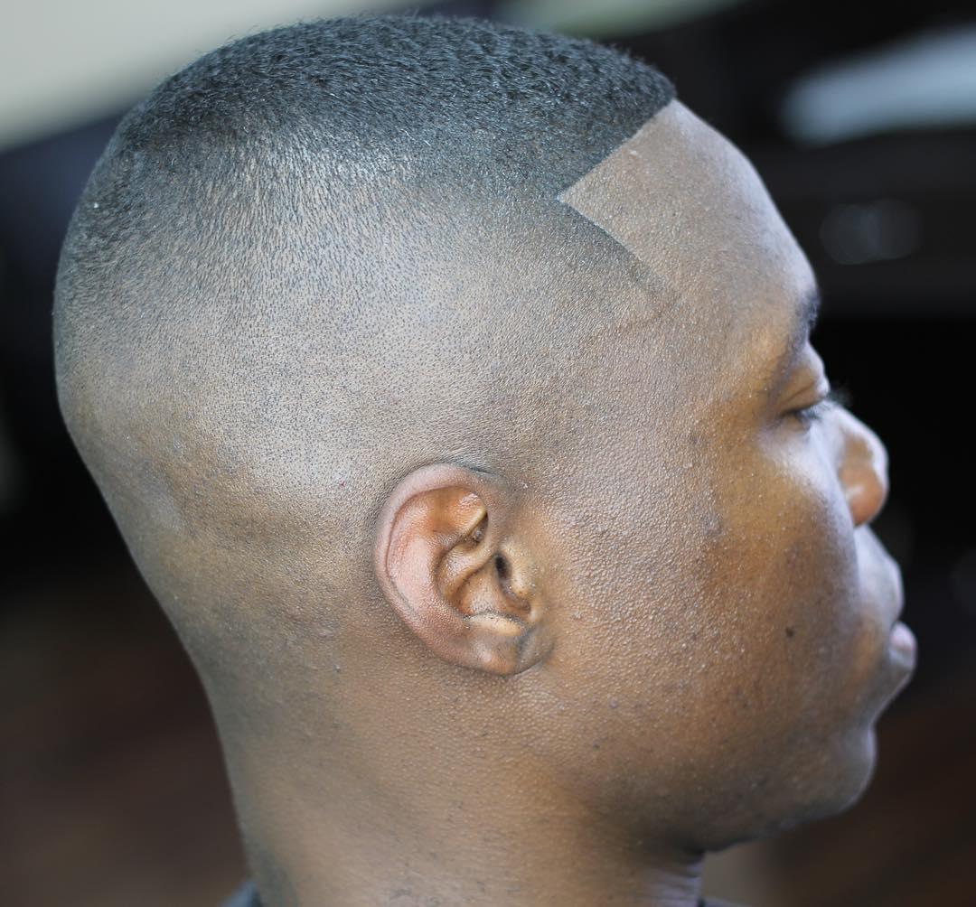 Black Extra Short Fade Haircut