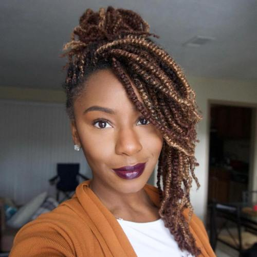 30 Hot Kinky Twist Hairstyles To Try In 2018