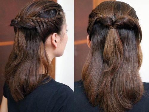 Hairstyles Braids Half Up: 20 Trendy Half Braided Hairstyles