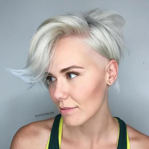 Layered Pixie With Bangs For Fine Hair