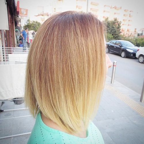 low maintenance bob with ombre