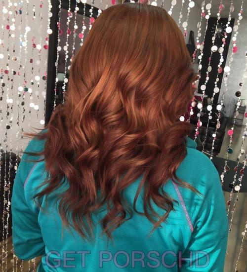 Wavy Auburn Hairstyle