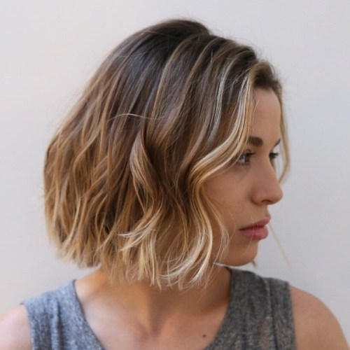 20 edgy ways to jazz up your short hair with highlights wavy bob with subtle highlights pmusecretfo Image collections