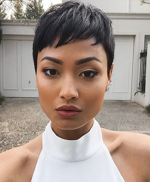 sassy and sexy black pixie cuts