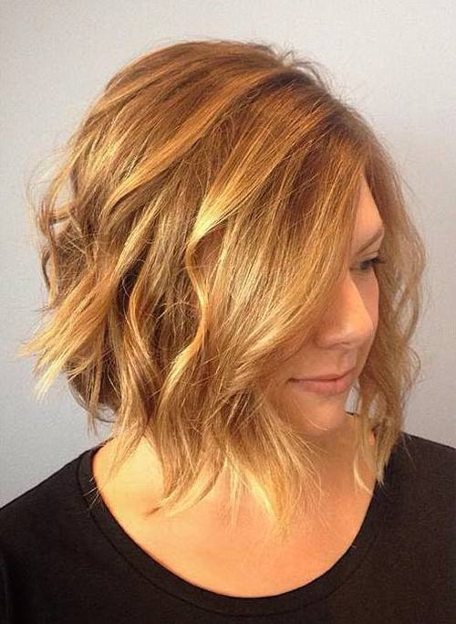 long blonde low maintenance messy bob