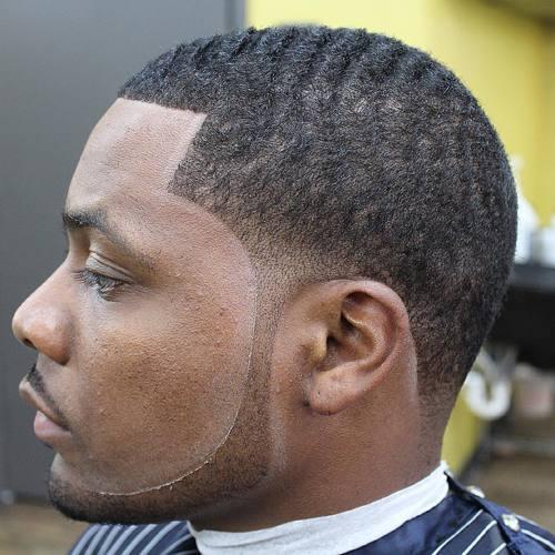 men's short African American haircut
