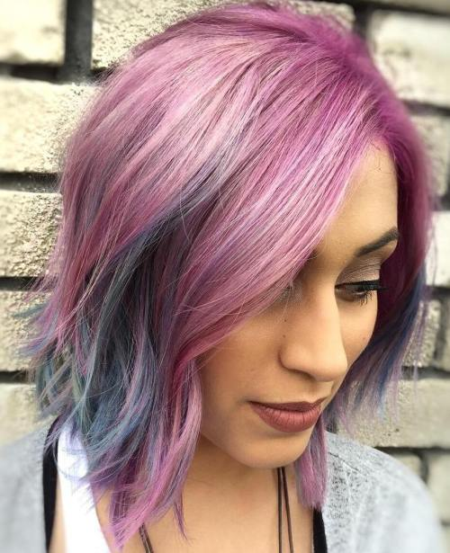 Pastel Pink And Blue Bob