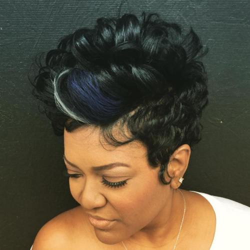 black tapered pixie haircut