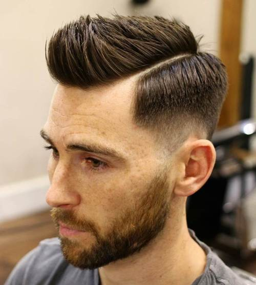 side part hipster fade haircut