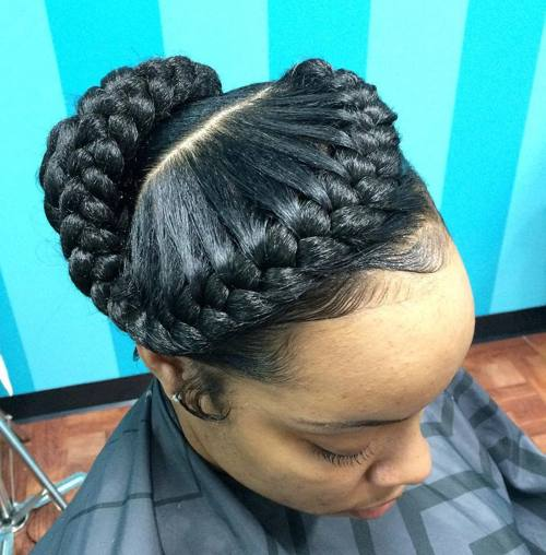 braided updo for black women