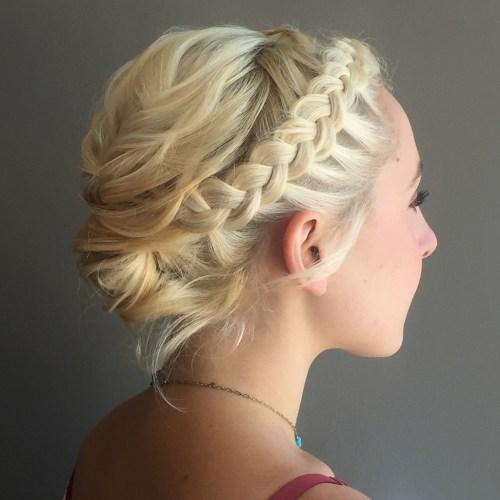Blonde Crown Braid Updo