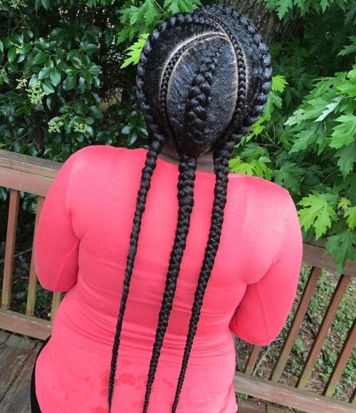 Three Goddess Braids