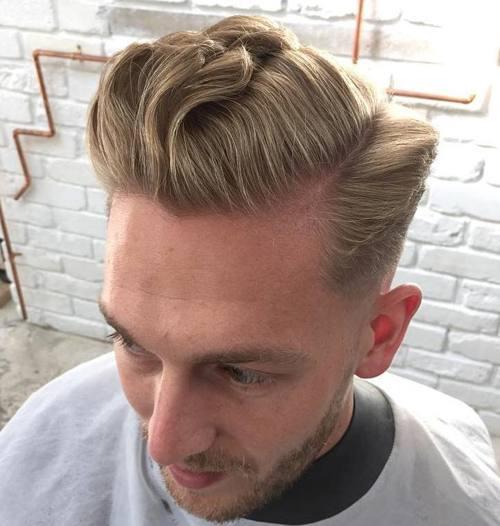 blonde hipster pompadour