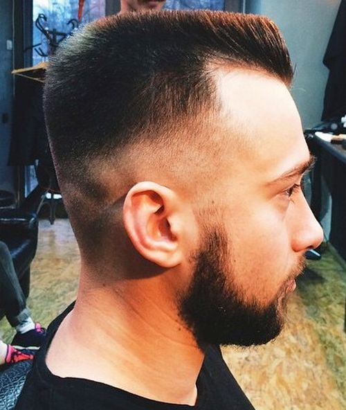 short flat top with mid fade