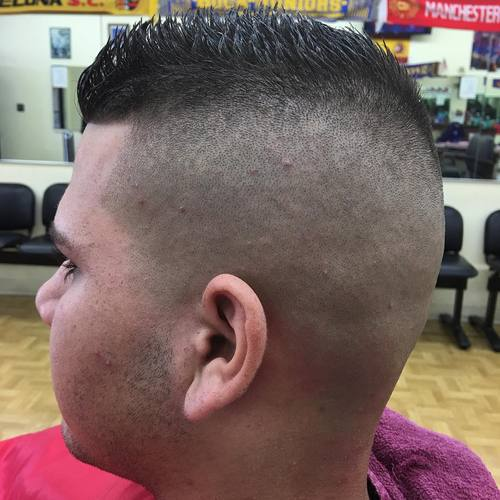 spiky top high and tight
