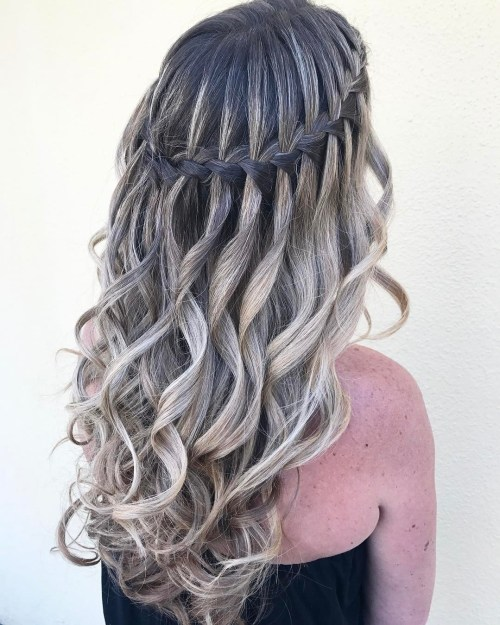 water fall hair styles 40 flowing waterfall braid styles waterfall braid 5403