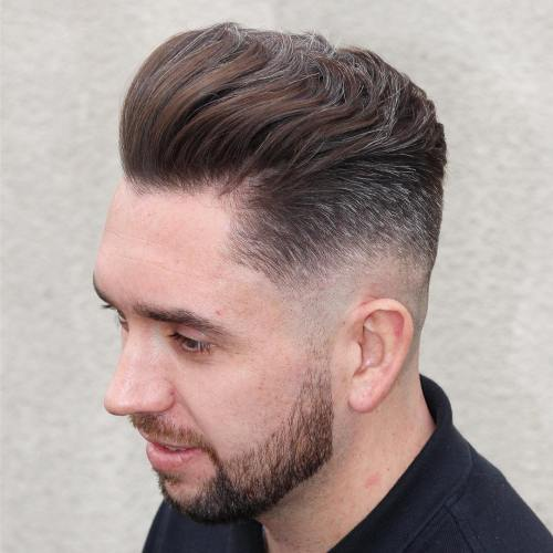Fade Haircut for Thick Wavy Hair