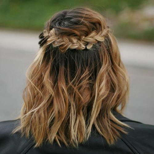half up boho crown braid