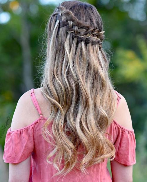Waterfall Crown Half Updo