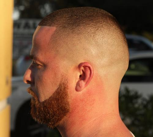 faded high and tight with square hairline