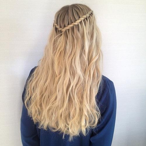 twisted rope waterfall braid