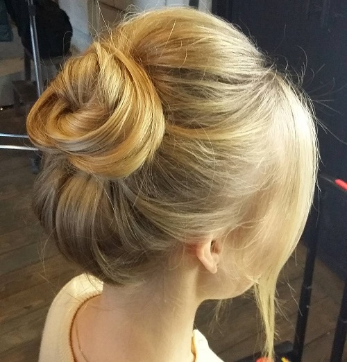 top knot for fine hair