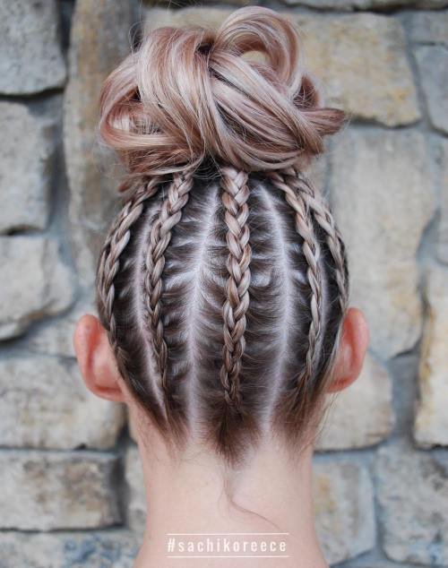 Braided Updo With High Bun