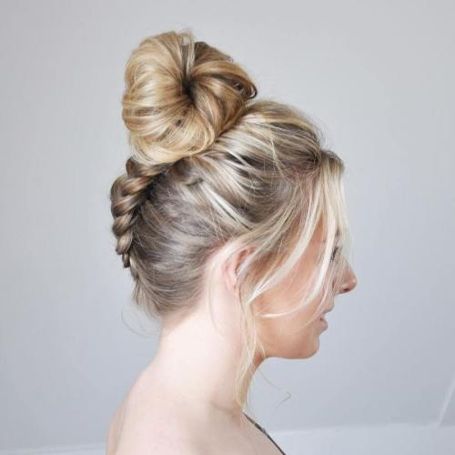 Braid To Bun Updo