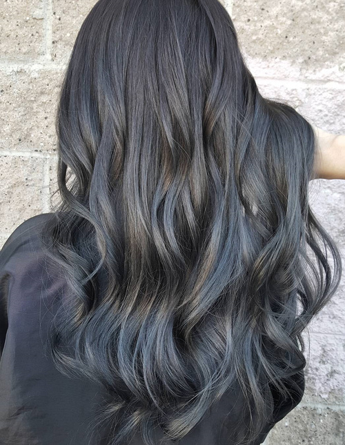 Subtle Silver Highlights For Brunettes